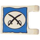 LEGO White Flag 2 x 2 with Cavalry Crossed Swords