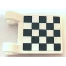 LEGO White Flag 2 x 2 with Checkered Flag Sticker