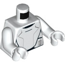 LEGO Flametrooper Torso with Black Lines with White Arms and White Hands (76382)