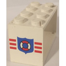 LEGO White Hose Reel 2 x 4 x 2 Holder with Decoration