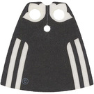 LEGO White Madame Hooch Cape with Black Back Pattern with Regular Starched Texture