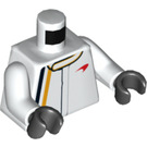 LEGO blanc Mclaren driver Minifig Torse (76382)