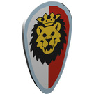 LEGO White Minifig Shield Ovoid with Royal Knights Lion