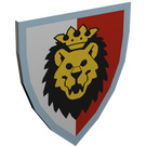 LEGO White Minifig Shield Triangular with Royal Knights Lion