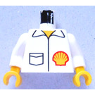 LEGO Minifig Torso with Shell Logo Jacket with White Arms and Yellow Hands (973)