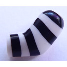 LEGO blanc Minifigure Left Arm with Black Stripes Pattern