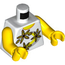 LEGO White Minifigure Torso Tank Top with Yellow Flowers (76382)