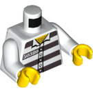 LEGO White Minifigure Torso with Prison Stripes and 50380 with 5 Buttons (76382)