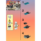 LEGO White Ninja's Tank Set 3076 Instructions