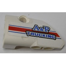 LEGO White Panel 1 Left with 'A&P TRUCKING' Sticker