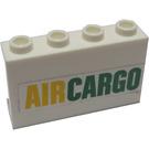 """LEGO White Panel 1 x 4 x 2 with """"AIRCARGO"""" Sticker"""