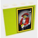 LEGO blanc Panneau 1 x 4 x 3 avec Autocollant from Set 8160 sans supports latéraux, tenons creux