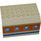LEGO White Panel 6 x 8 x 4 Fuselage with Decoration