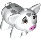 LEGO White Pig with 1. 5 Hole (66503)