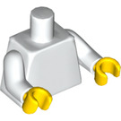 LEGO White Plain Torso with White Arms and Yellow Hands (76382 / 88585)
