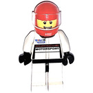 LEGO White Porsche Driver Minifigure