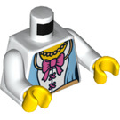 LEGO White Princess Torso with Large Pink Bow (76382)