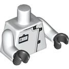 LEGO White Professor Hugo Strange Minifig Torso (88585)