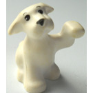 LEGO White Puppy with Black Eyes & Snout Decoration
