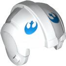 LEGO White Rebel Pilot Helmet with Rebel Alliance Logo (83784)