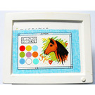 LEGO White Scala Television / Computer Screen with Drawing Window and Horse Head Sticker