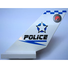 LEGO White Shuttle Tail 2 x 6 x 4 with Jack Stone Police Decoration