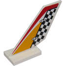LEGO White Shuttle Tail 2 x 6 x 4 with Sticker from Set 60019