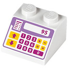 LEGO White Slope 2 x 2 (45°) with Cash Register (24566)