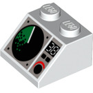 LEGO White Slope 2 x 2 (45°) with Sonar and Dial (82024)