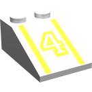 """LEGO blanc Pente 2 x 3 (25°) avec """"4"""" avec surface rugueuse"""