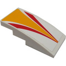 LEGO White Slope 2 x 4 Curved with Sticker from Set 60019