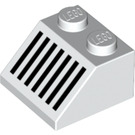 LEGO White Slope 45° 2 x 2 with Black Grille (60186)