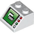 LEGO White Slope 45° 2 x 2 with Computer Monitor Decoration (46096)
