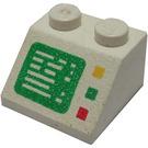 LEGO Weiß Steigung 45° 2 x 2 mit Computer Screen