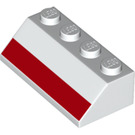 LEGO White Slope 45° 2 x 4 with Decoration with Rough Surface (49412)