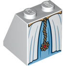 LEGO White Slope 65° 2 x 2 x 2 with Centre Tube with Belted Gown with Gold Chain (84674)