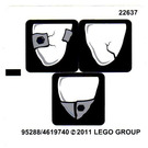 LEGO White Sticker Sheet for Set 2520 (95288)