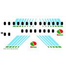 LEGO White Sticker Sheet for Set 2532 / 2718 (72543)