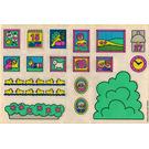 LEGO White Sticker Sheet for Set 2792