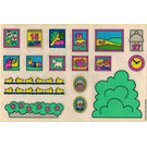 LEGO White Sticker Sheet for Set 2792 / 2794
