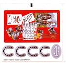 LEGO White Sticker Sheet for Set 3124