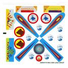 LEGO White Sticker Sheet for Set 3148 (22955)
