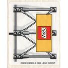LEGO White Sticker Sheet for Set 3402 (22912)