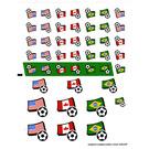 LEGO White Sticker Sheet for Set 3411 (23282)
