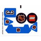 LEGO White Sticker Sheet for Set 3542 (46208)