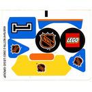 LEGO White Sticker Sheet for Set 3545 (45870)
