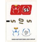 LEGO White Sticker Sheet for Set 3568 (55000)