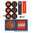 LEGO White Sticker Sheet for Set 3579 (49885)