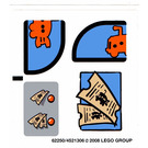 LEGO White Sticker Sheet for Set 3830 (62250)