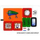 LEGO White Sticker Sheet for Set 3834 (64768)